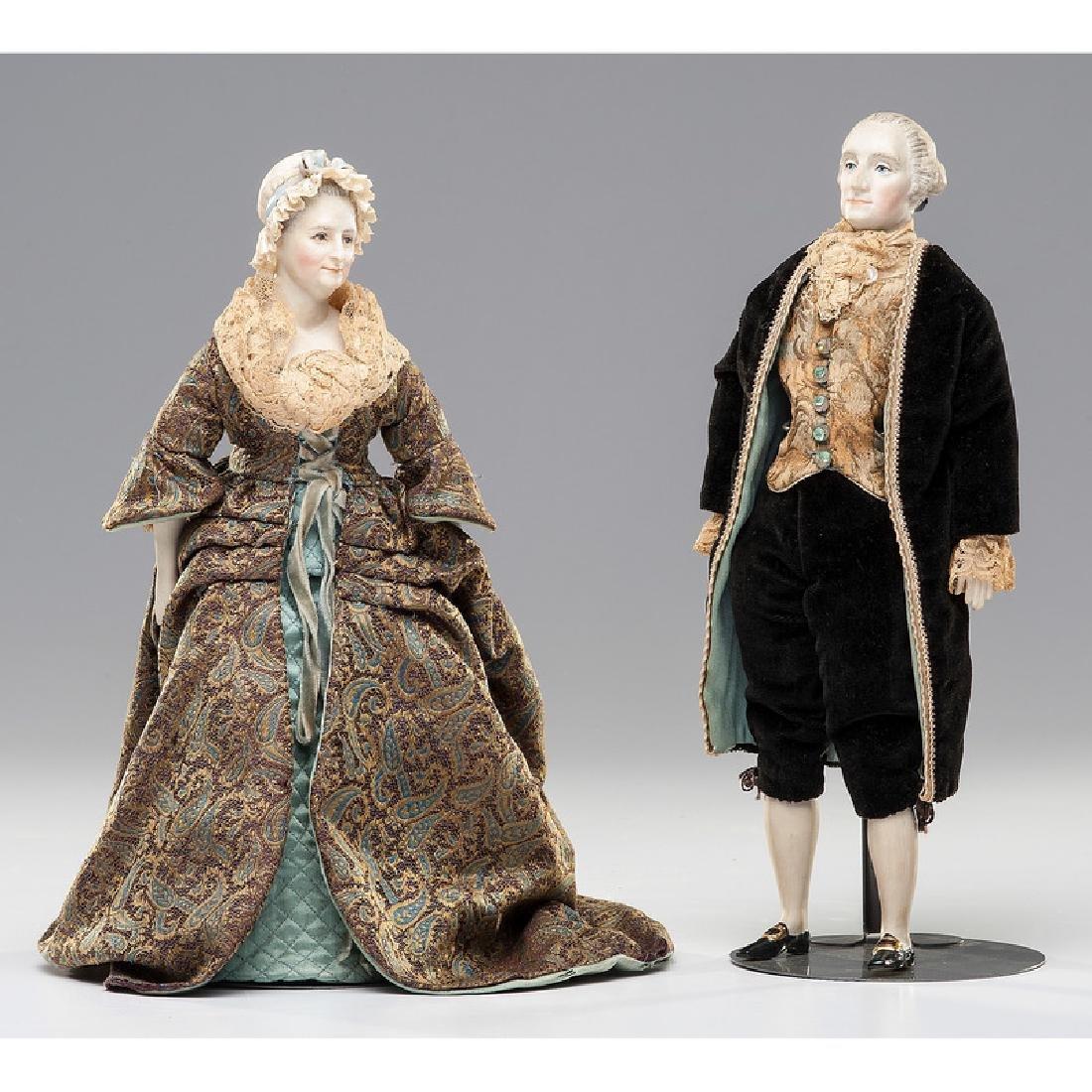 George and Martha Washington Dolls by Martha Thompson - 2
