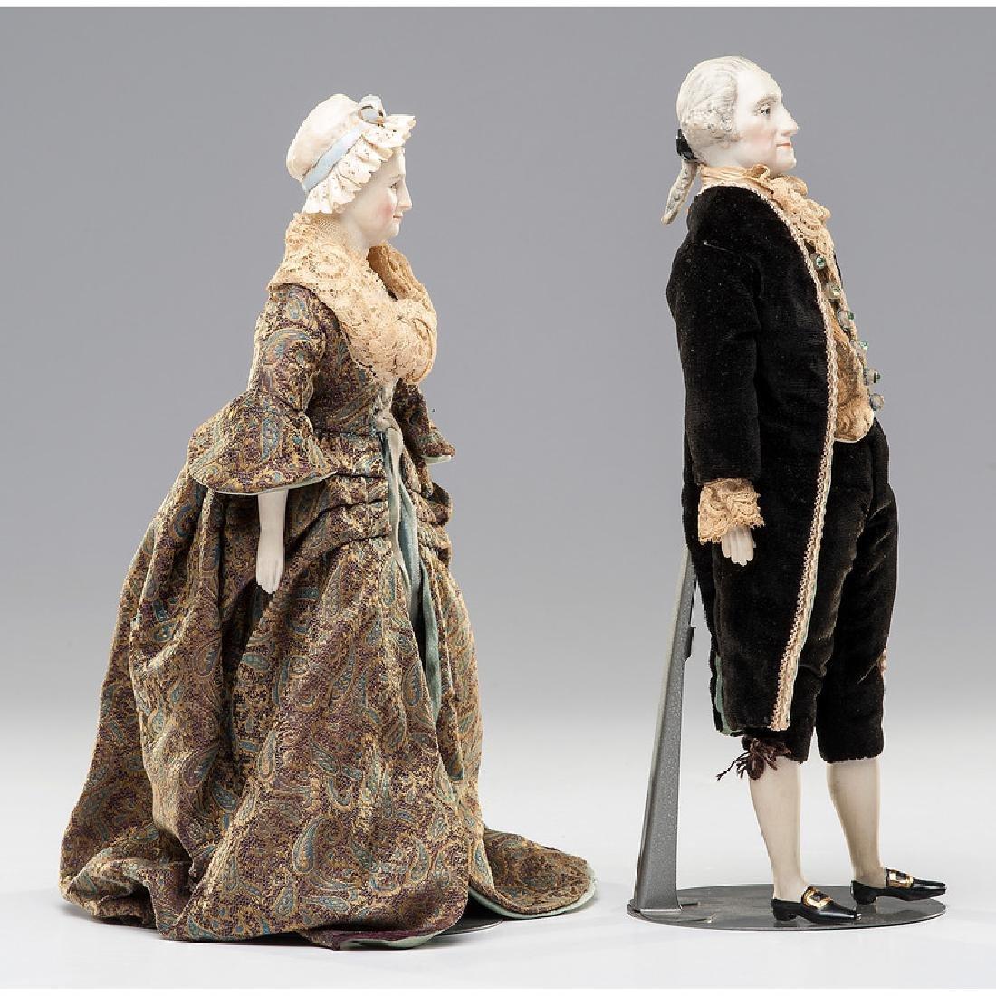 George and Martha Washington Dolls by Martha Thompson - 3
