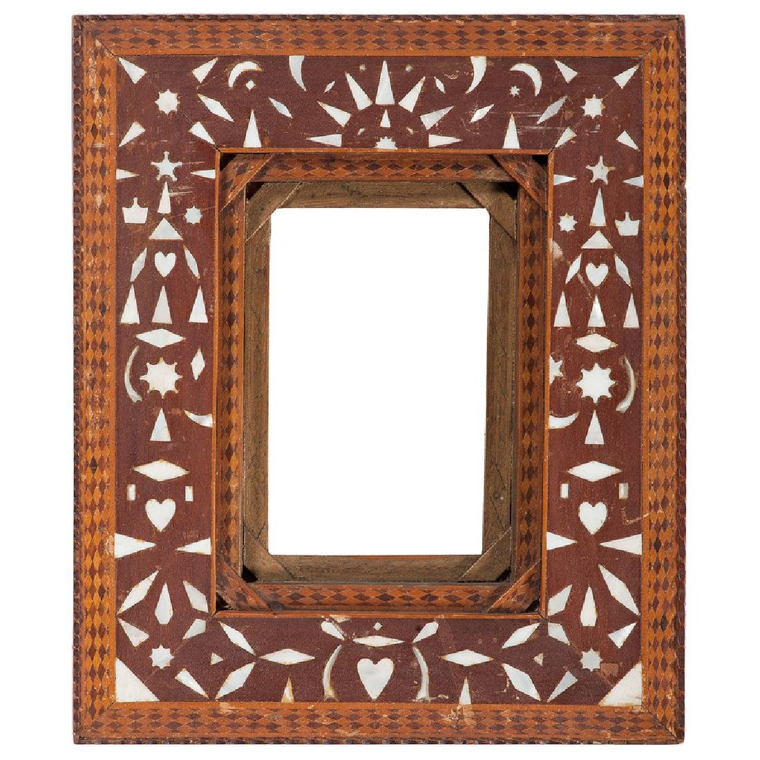 Folk Art Frame with Mother of Pearl Inlay