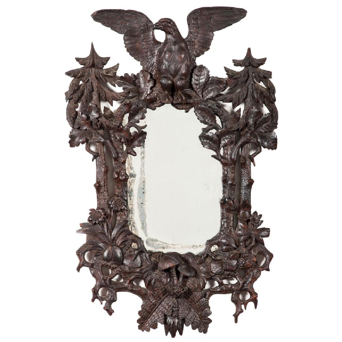 Folk Art Carved Mirror