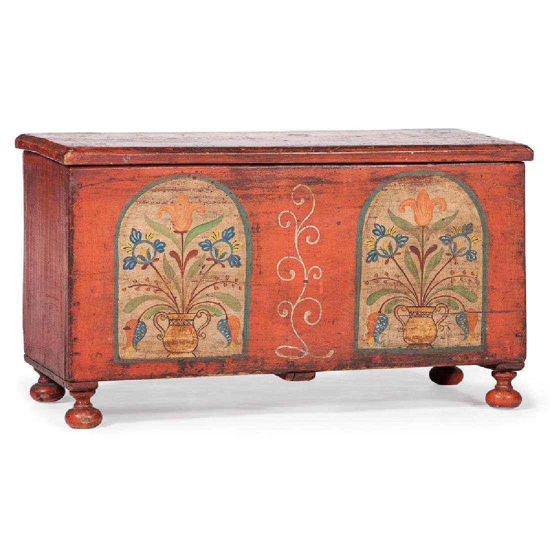Pennsylvania Miniature Painted Blanket Chest