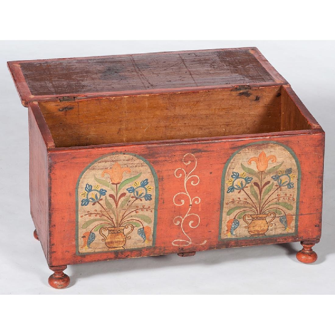 Pennsylvania Miniature Painted Blanket Chest - 2