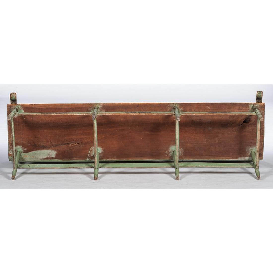 Painted Pennsylvania Settle Bench - 2