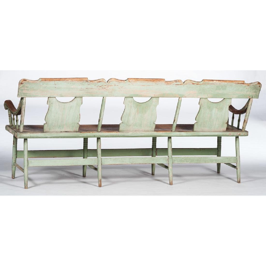 Painted Pennsylvania Settle Bench - 3