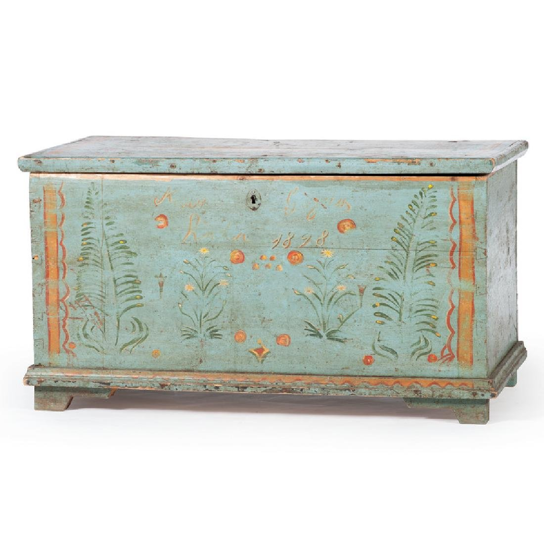 Paint Decorated Wedding Chest