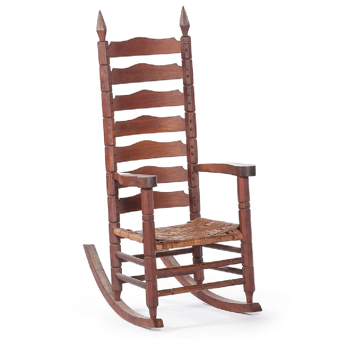 Chester Cornett Folk Art Rocking Chair