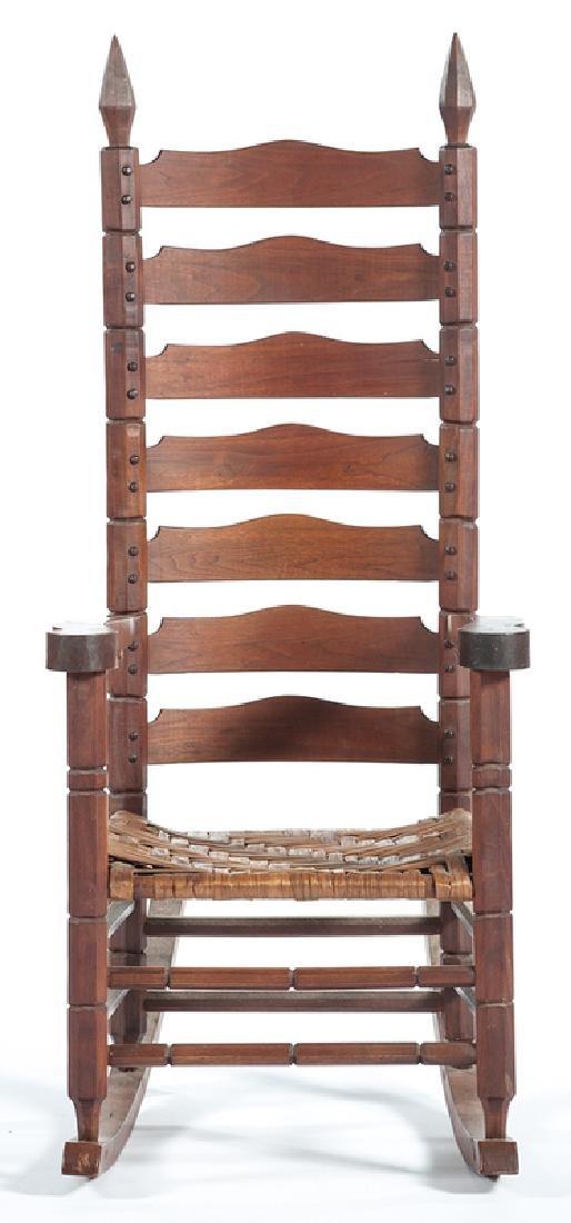 Chester Cornett Folk Art Rocking Chair - 3