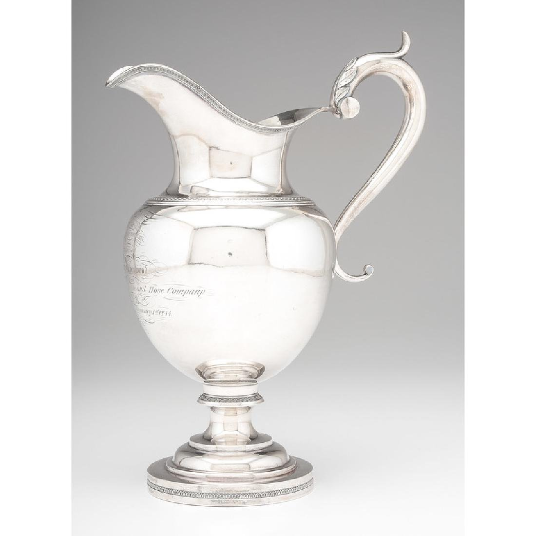 Edward Kinsey Coin Silver Pitcher, Presented to Miles - 2