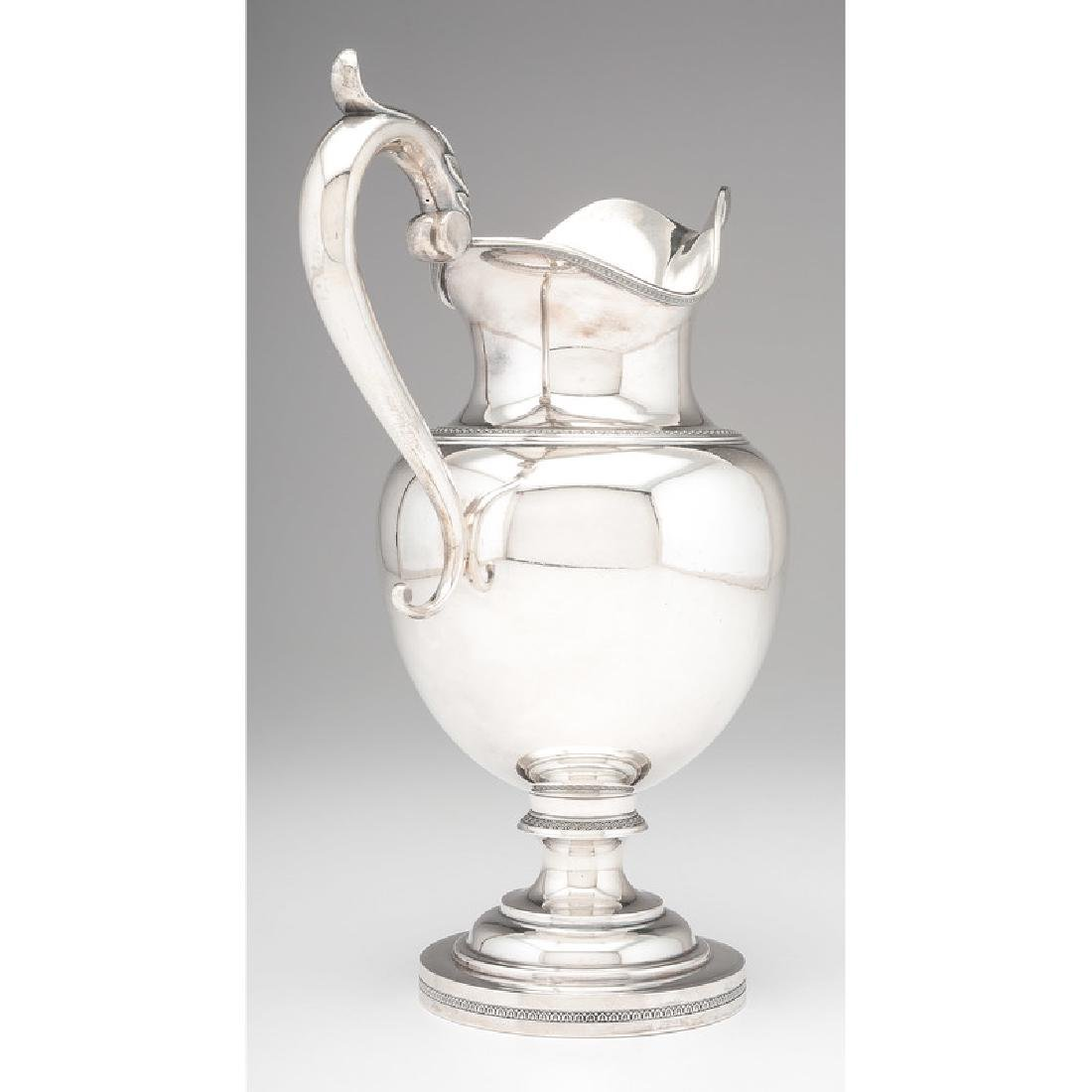 Edward Kinsey Coin Silver Pitcher, Presented to Miles - 3