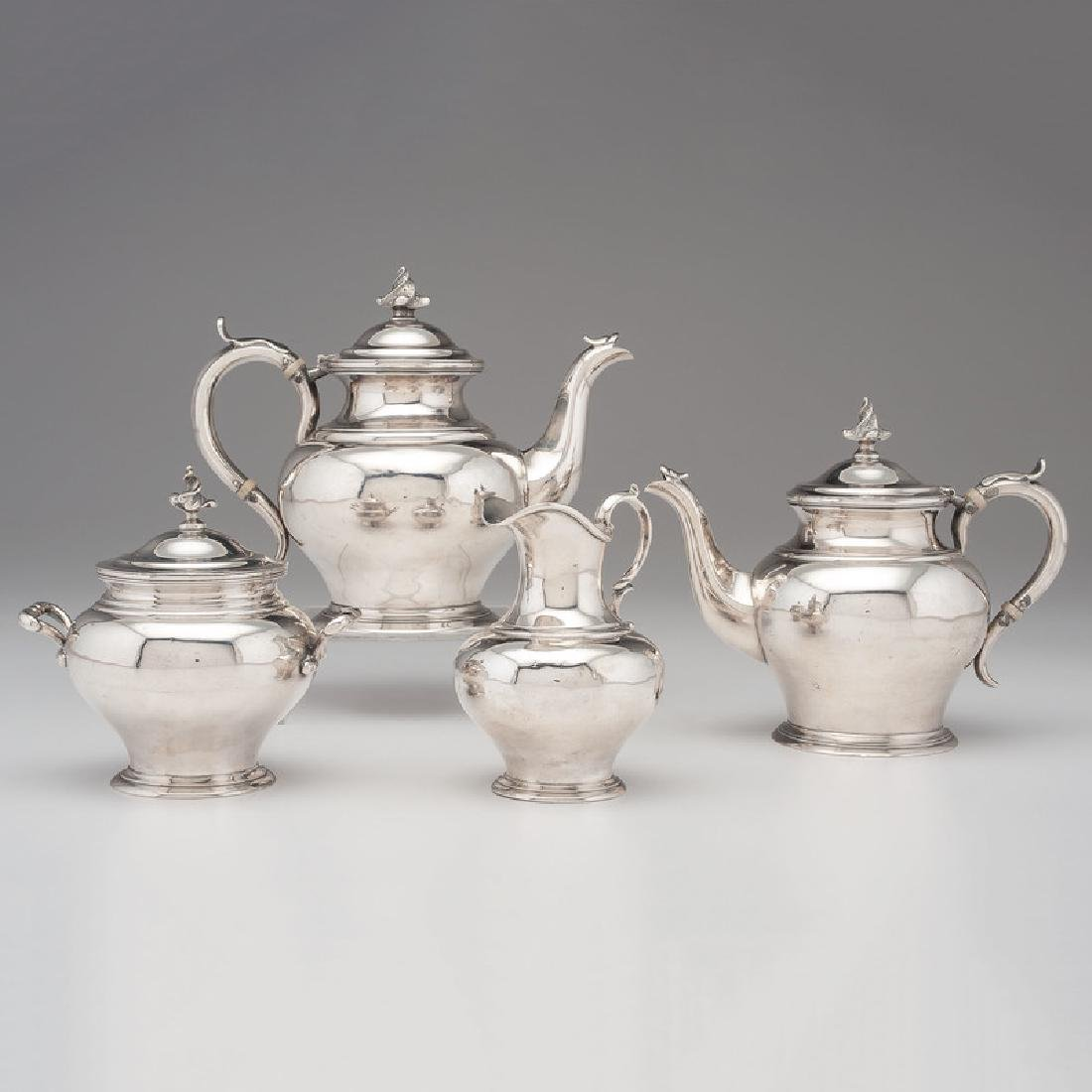 Cincinnati Assembled Coin Silver Tea Service