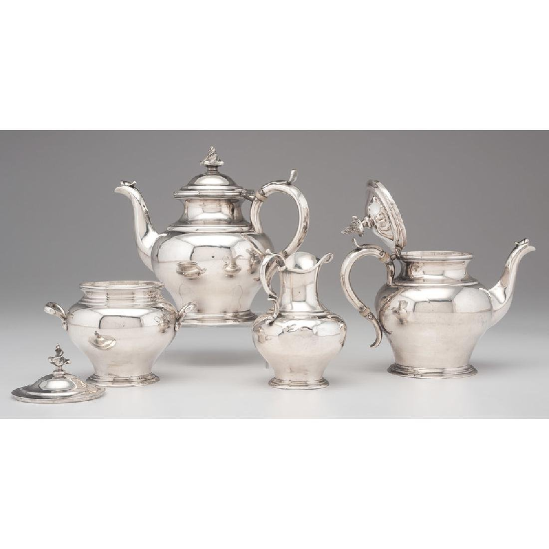 Cincinnati Assembled Coin Silver Tea Service - 2