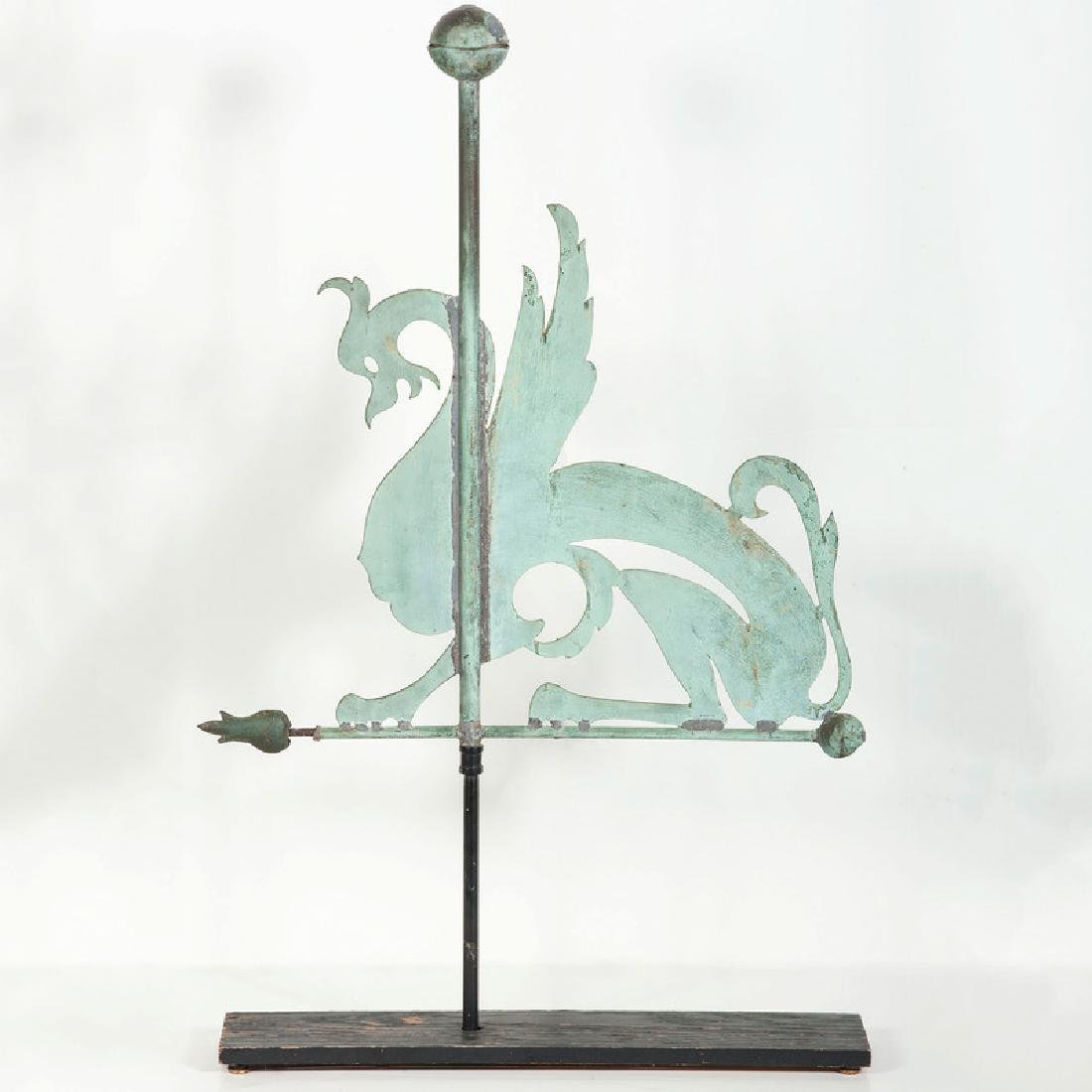 Copper Griffin Weathervane