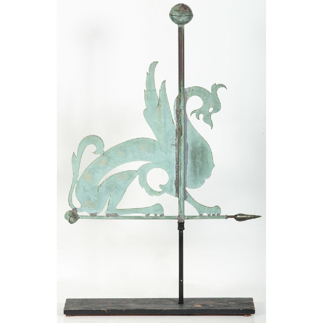 Copper Griffin Weathervane - 2
