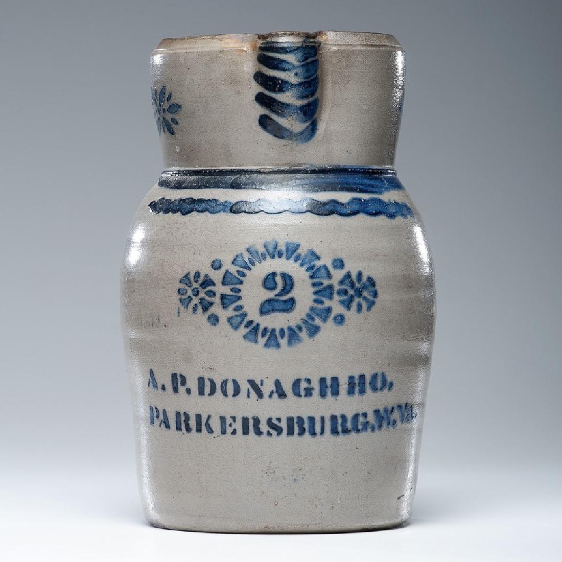 A.P. Donaghho Two Gallon Stoneware Pitcher