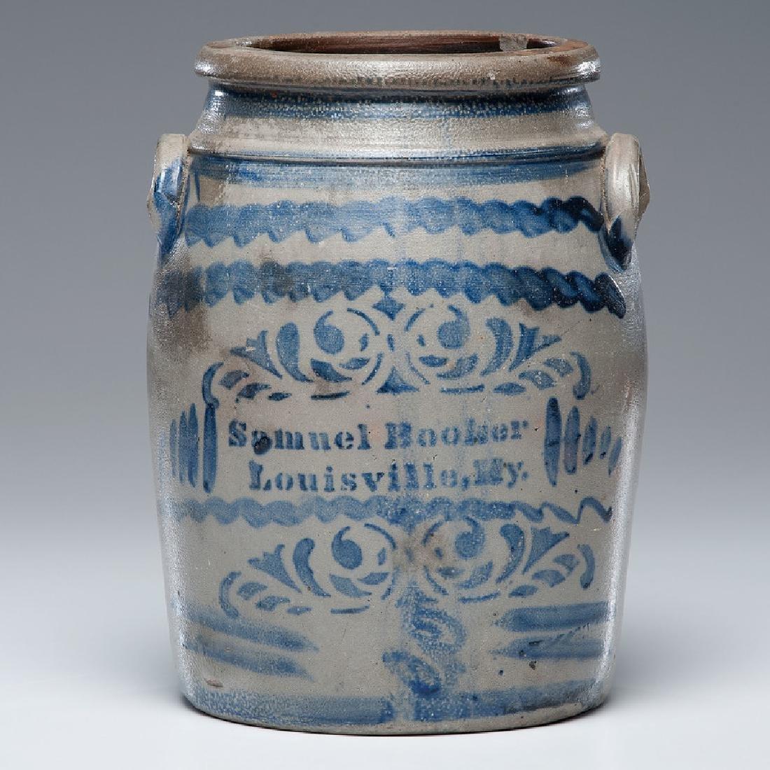 Samuel Booker Kentucky Stoneware Crock