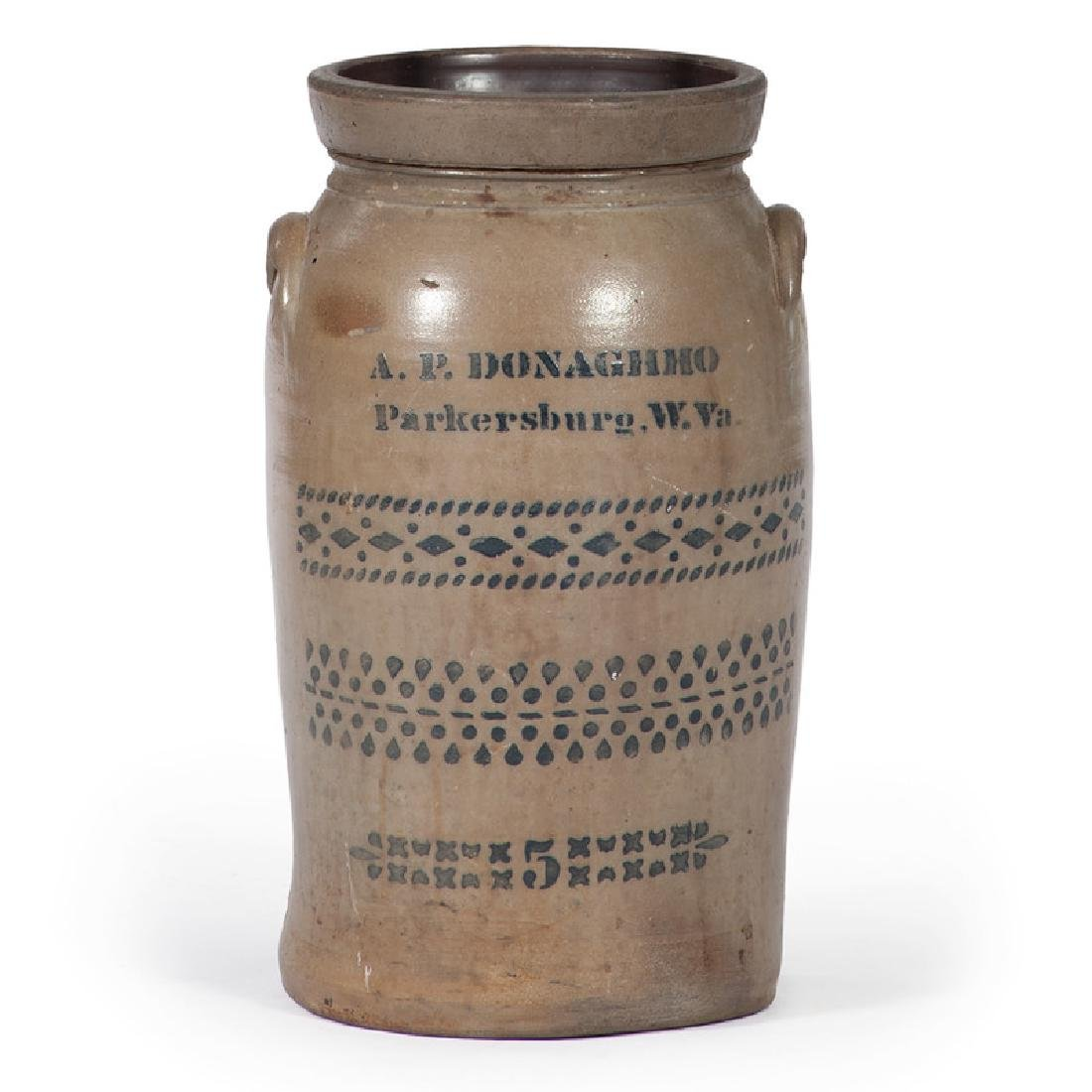 A.P. Donaghho Stoneware Butter Churn