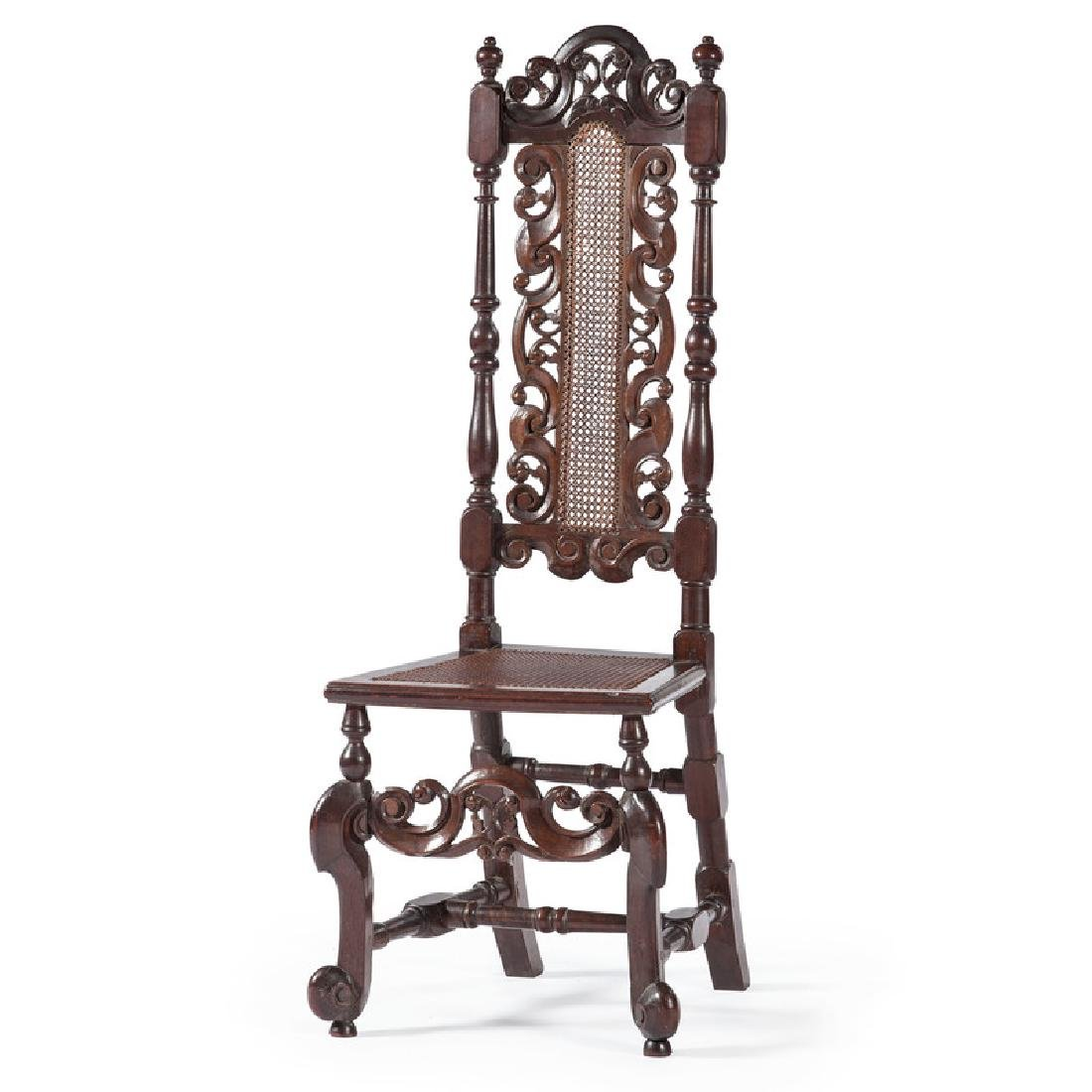 American William and Mary Carved Side Chair Illustrated