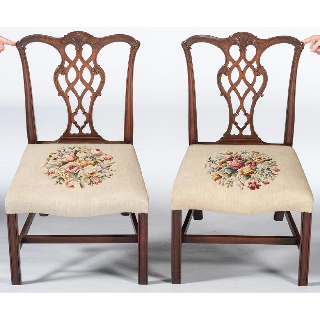 Chippendale-style Dining Chairs - 2