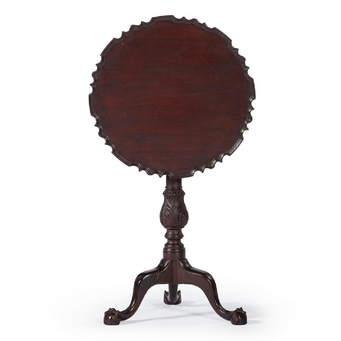American Chippendale Pie Crust Tilt Top Table