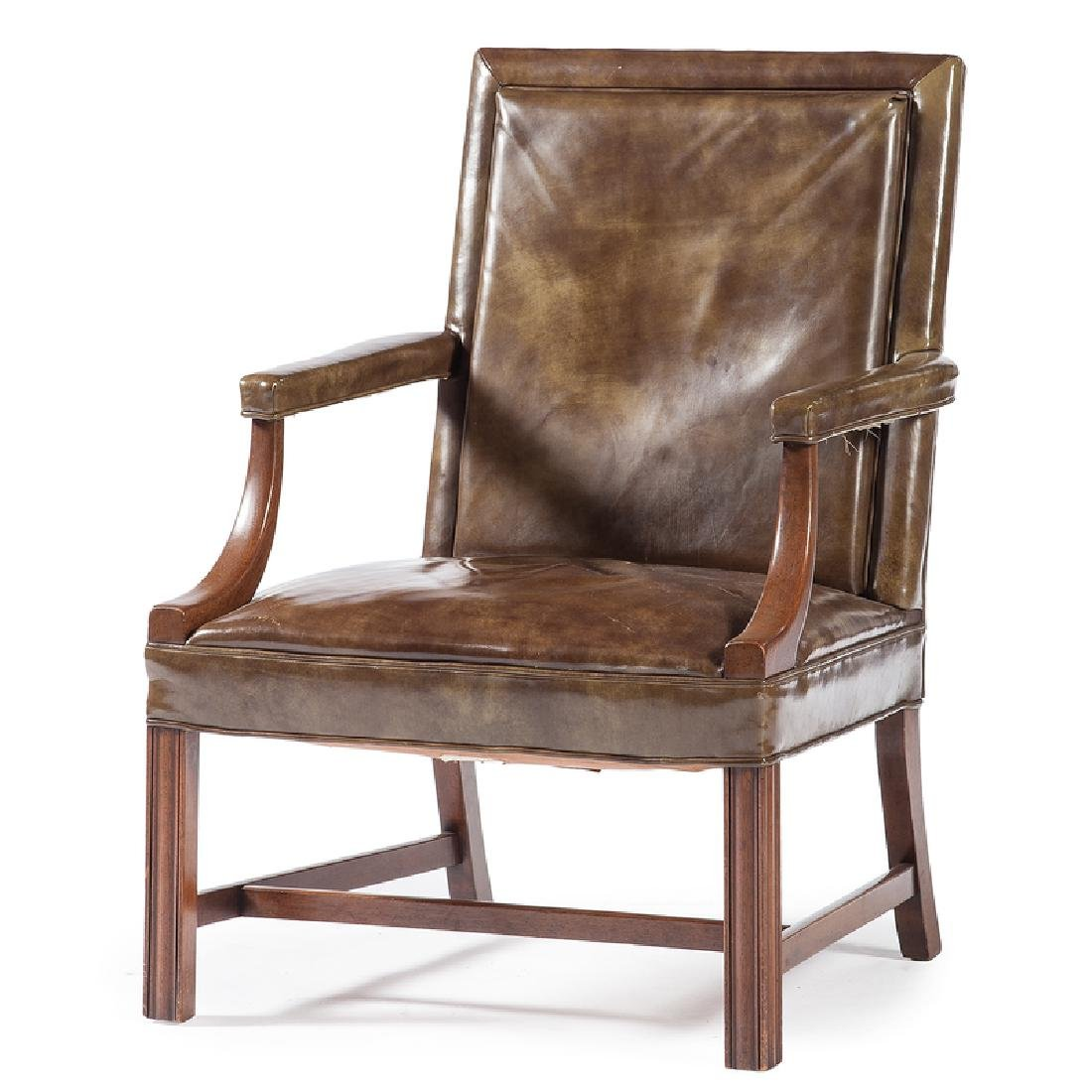 Chippendale-style Open Armchair