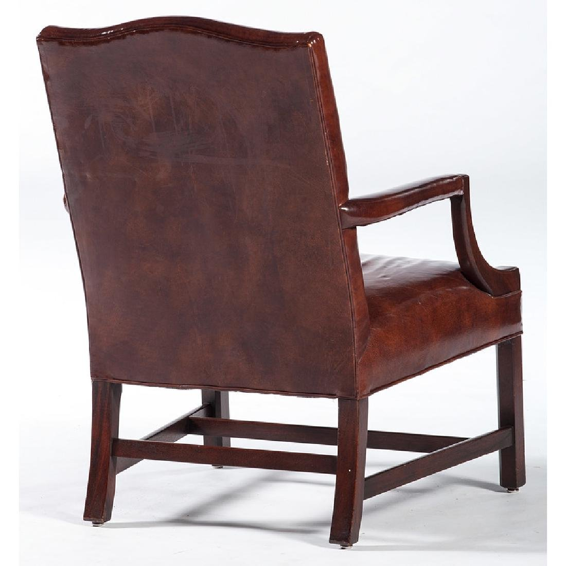 Chippendale-style Leather Armchair - 2