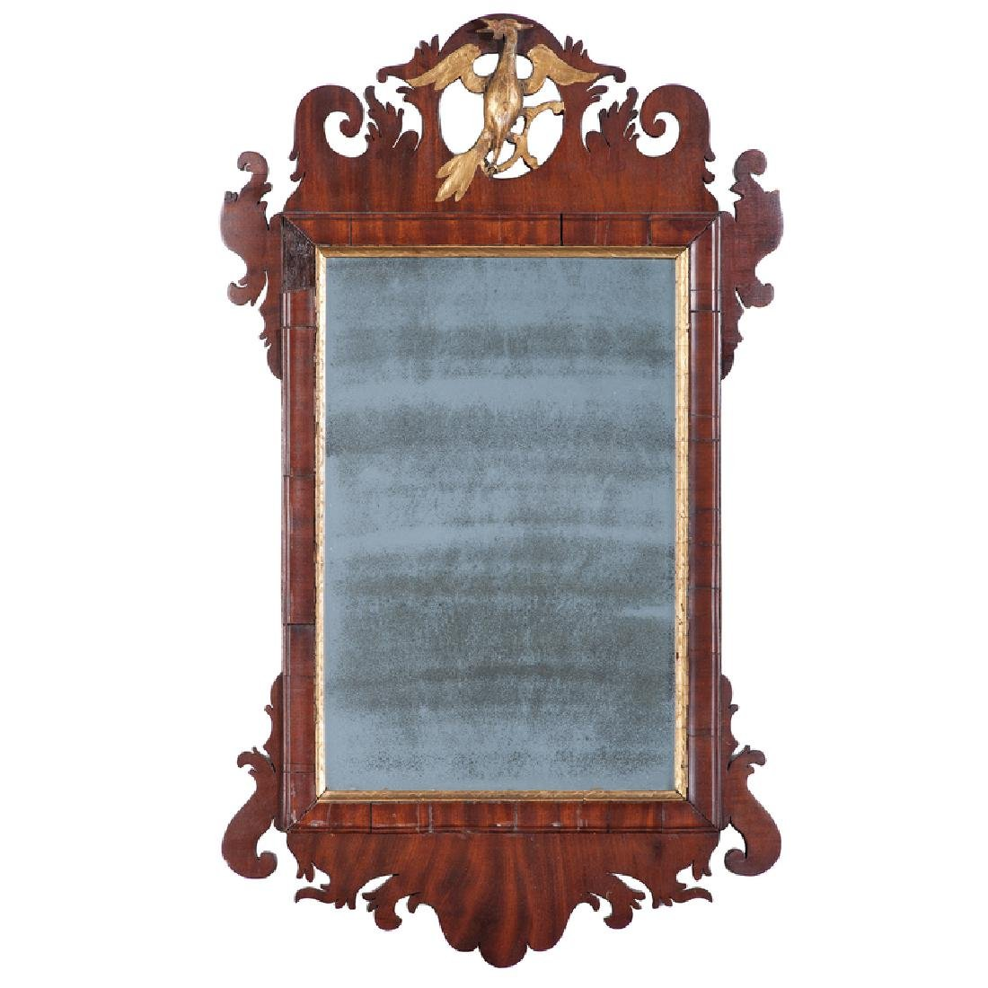 Federal Mahogany and Parcel-Gilt Mirror