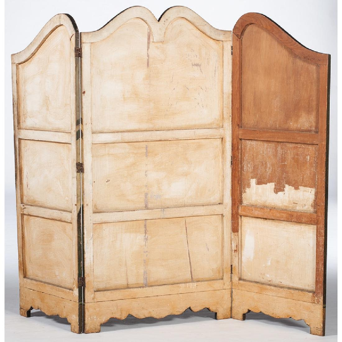 Wooden Three-Panel Screen Decorated by George Parker - 2