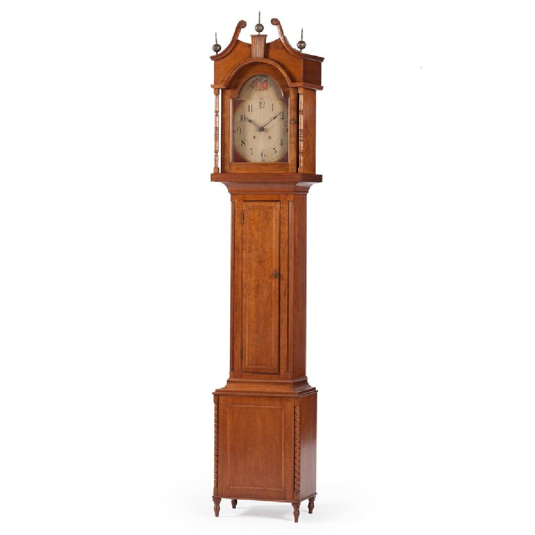 American Tall Case Clock in Cherry