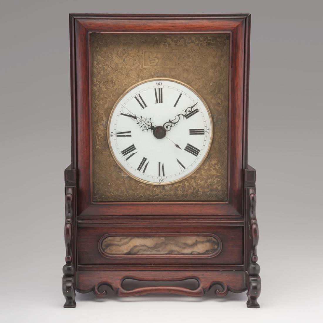 Chinese Screen Shelf Clock