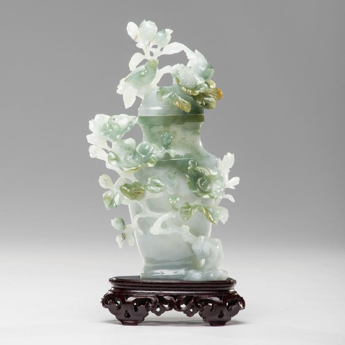 Chinese Carved Jade Urn