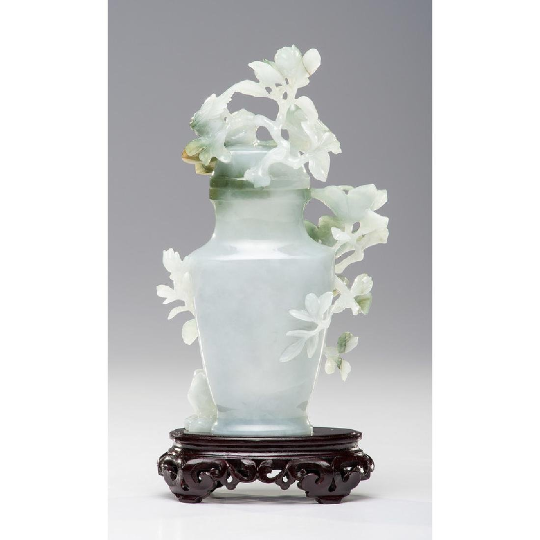 Chinese Carved Jade Urn - 3