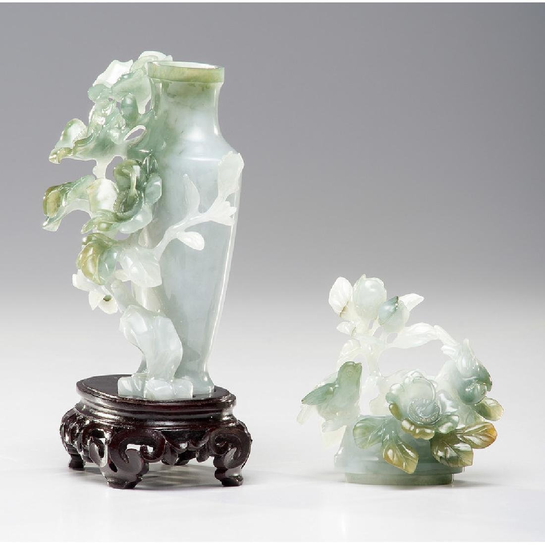 Chinese Carved Jade Urn - 4