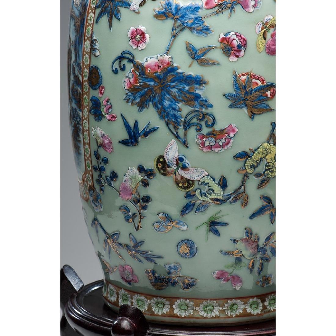 Chinese Polychrome Parcel-Gilt Vase - 3