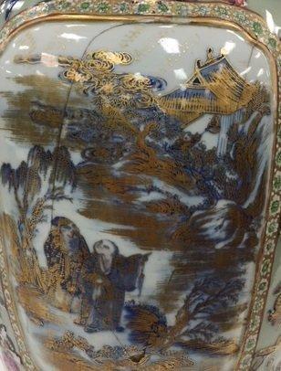 Chinese Polychrome Parcel-Gilt Vase - 4