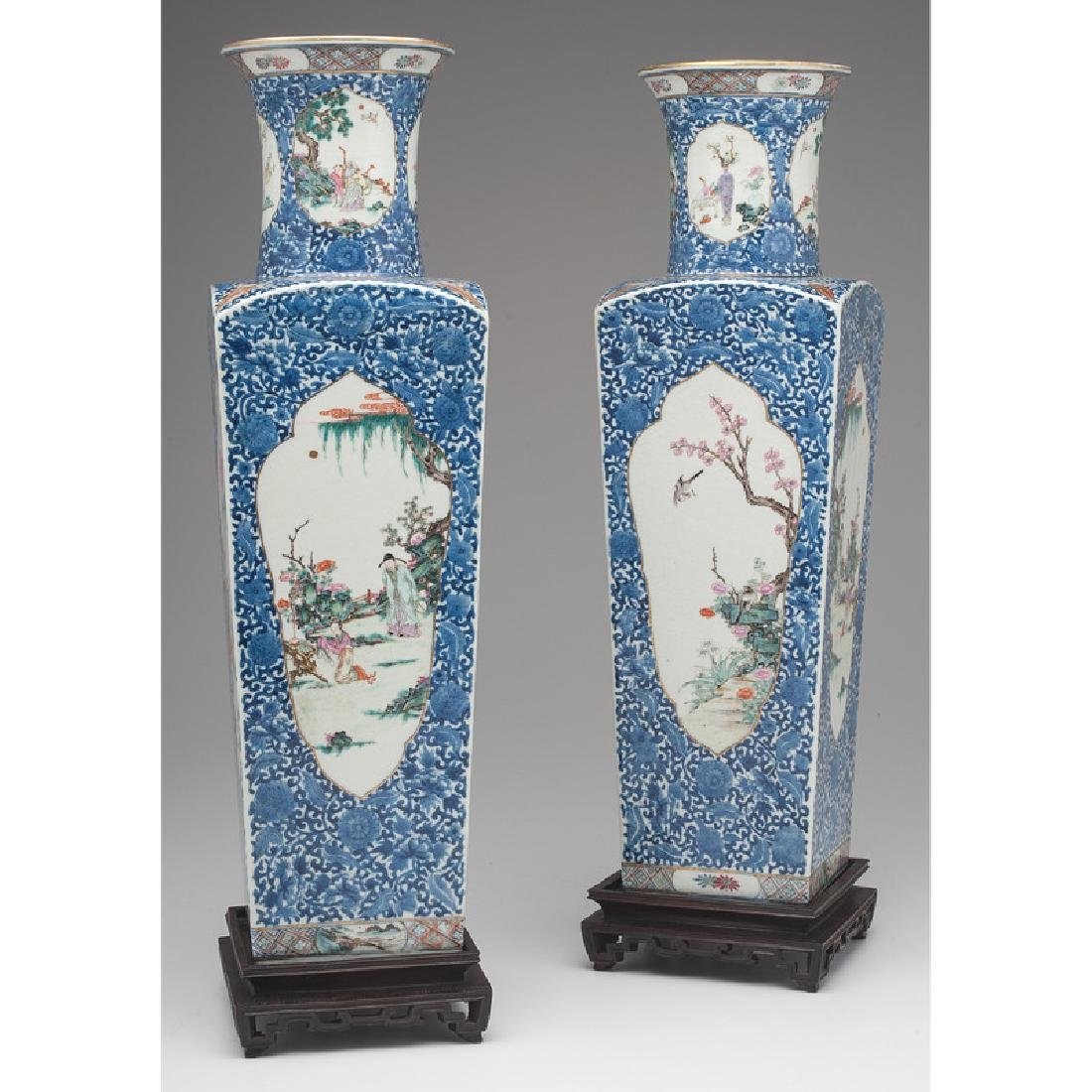 Chinese Square Vases - 2