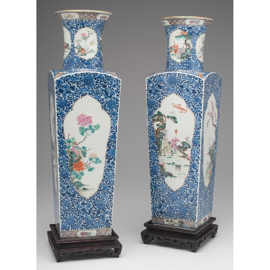Chinese Square Vases - 3