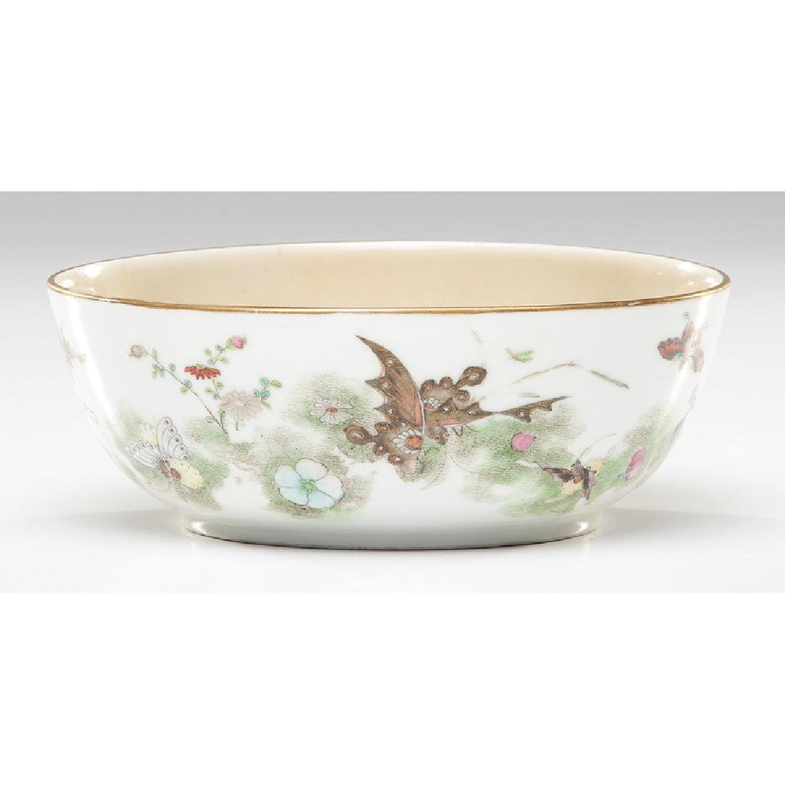 Chinese Porcelain Bowl with Bat and Butterfly