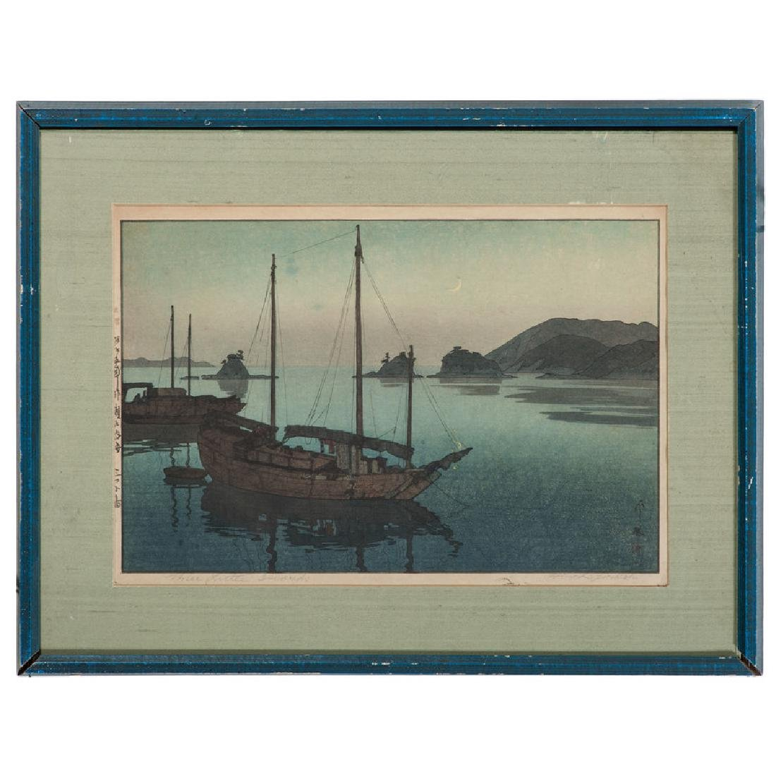 Three Little Islands Woodblock by Hiroshi Yoshida