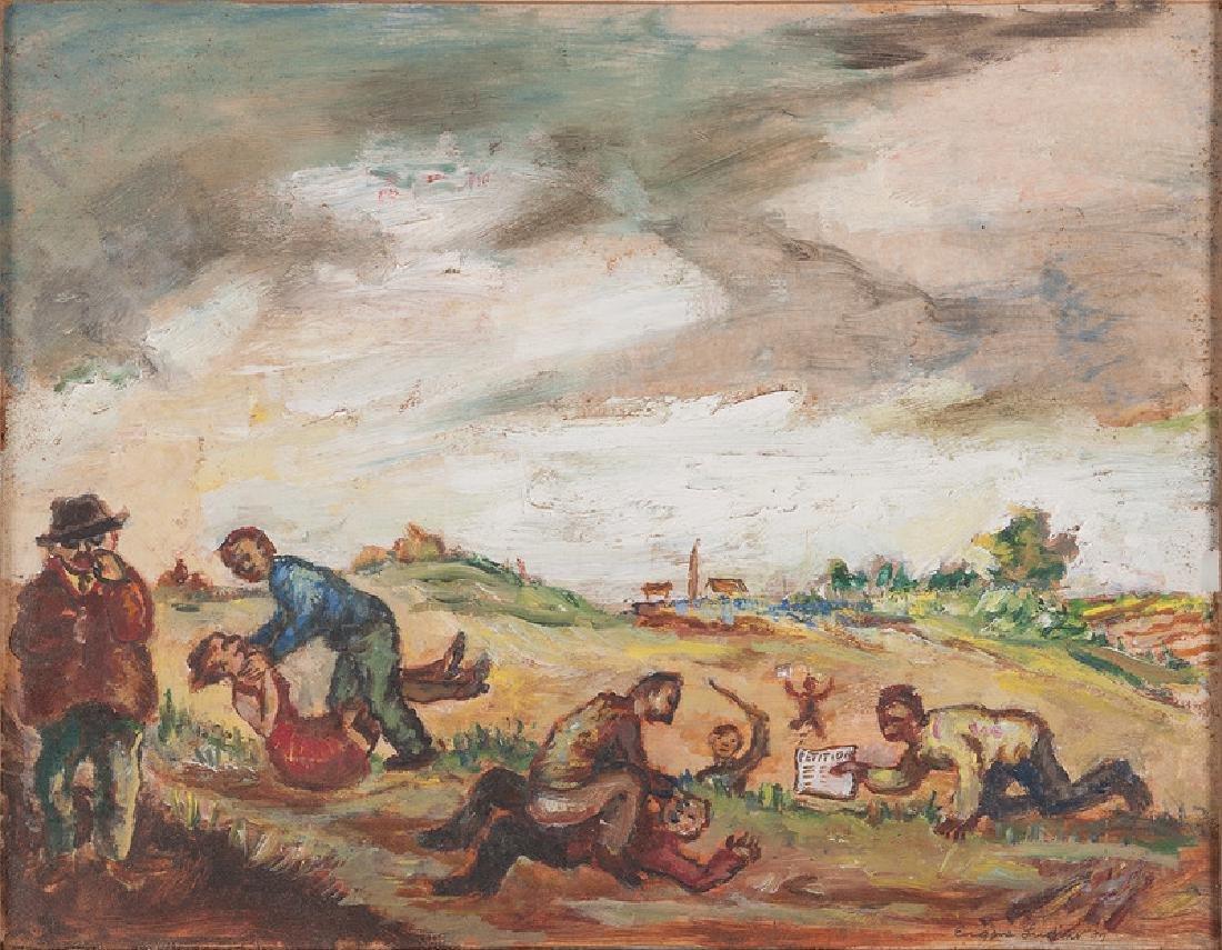 Eugene Ludins (American, 1904-1996), Oil on Paper