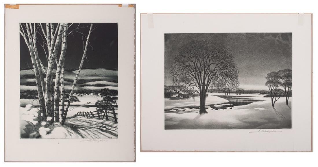 Samuel L. Margolies (American, 1897-1974), Two Etchings