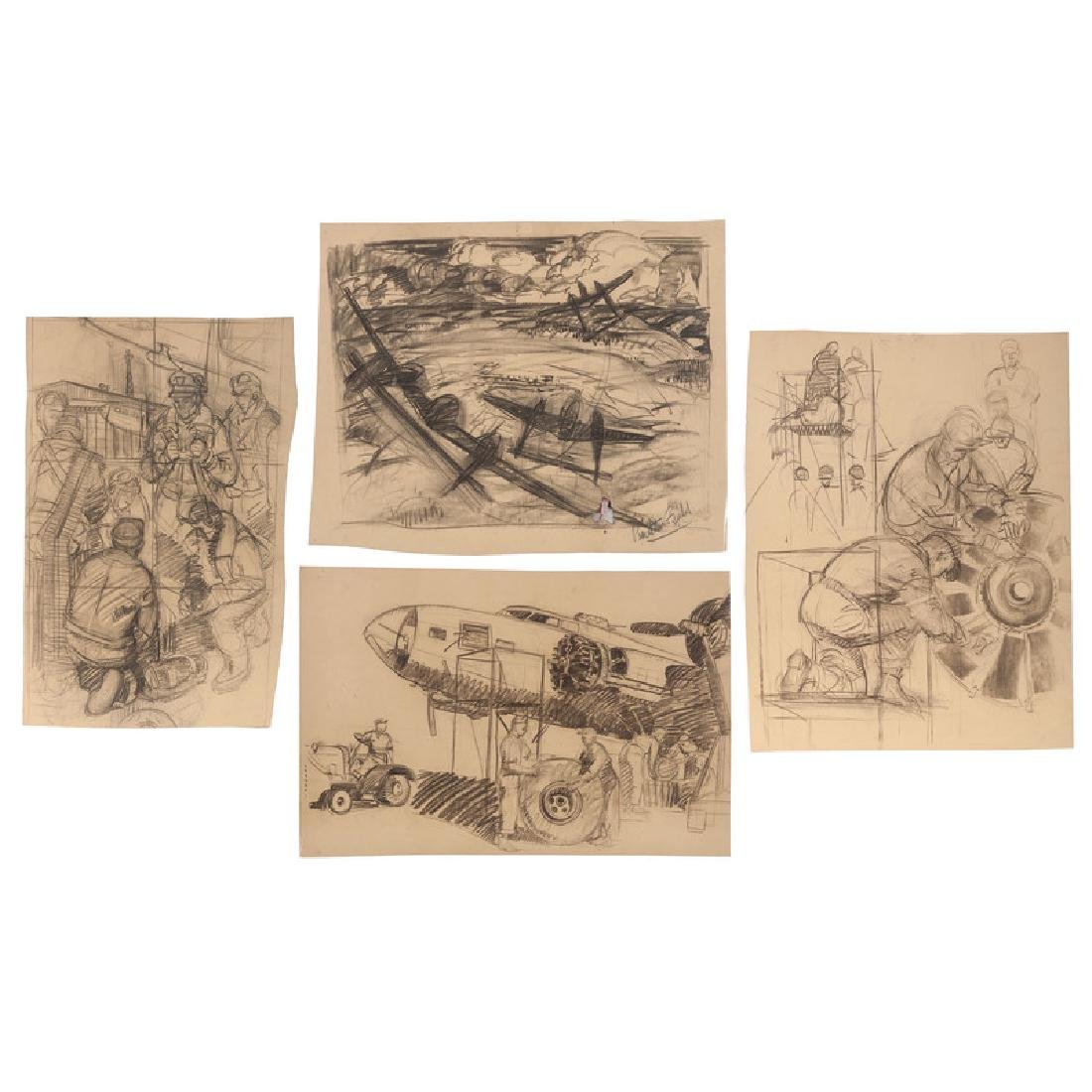 Sketches Related to Pendleton Field Air Base and the