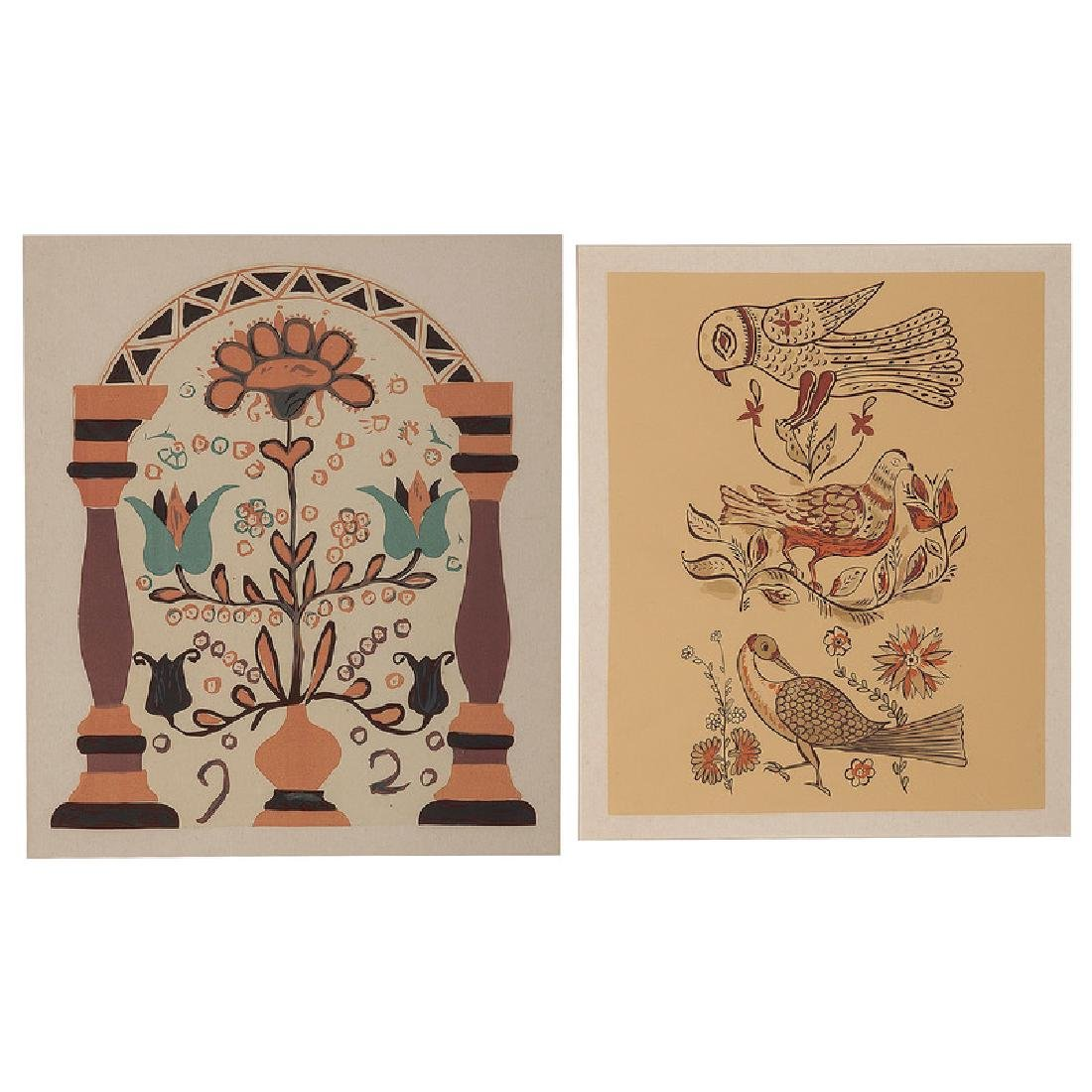 Pennsylvania Dutch Design Serigraphs