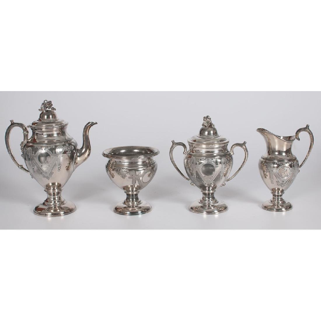 Silverplated Aesthetic Movement Coffee Set