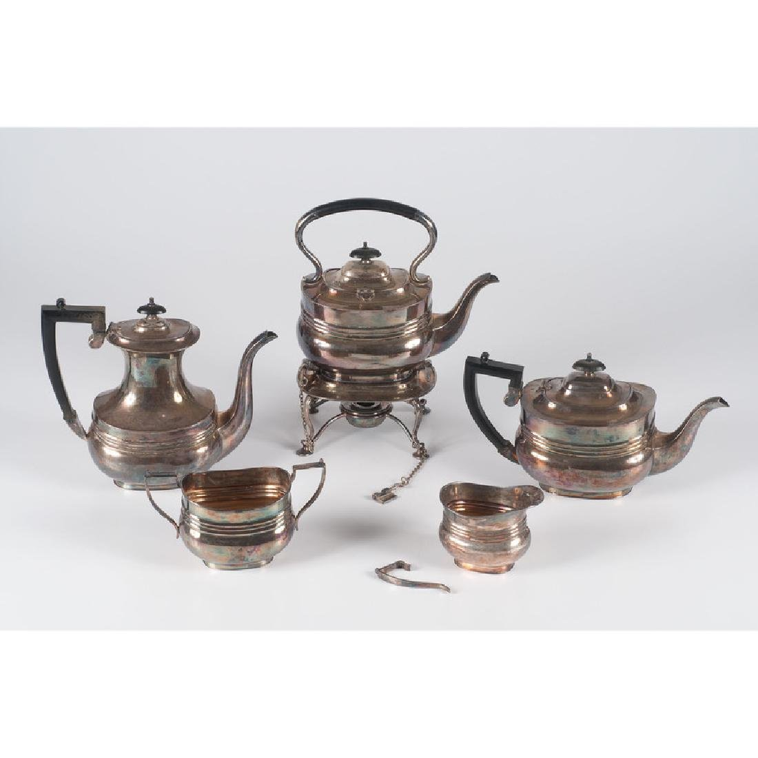 English Silverplated Tea Service