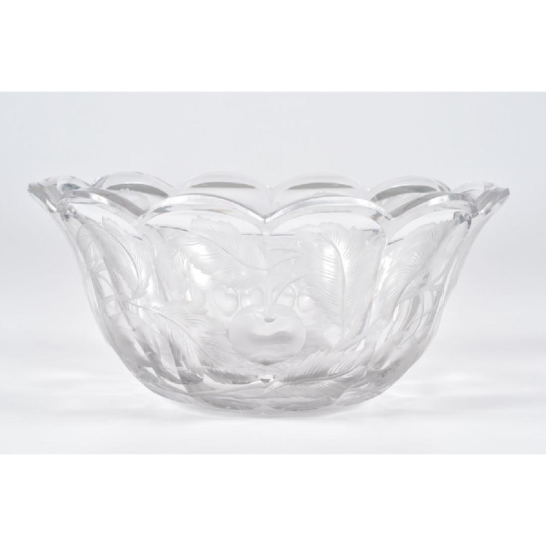 Libbey Glass Bowl with Cherry Pattern