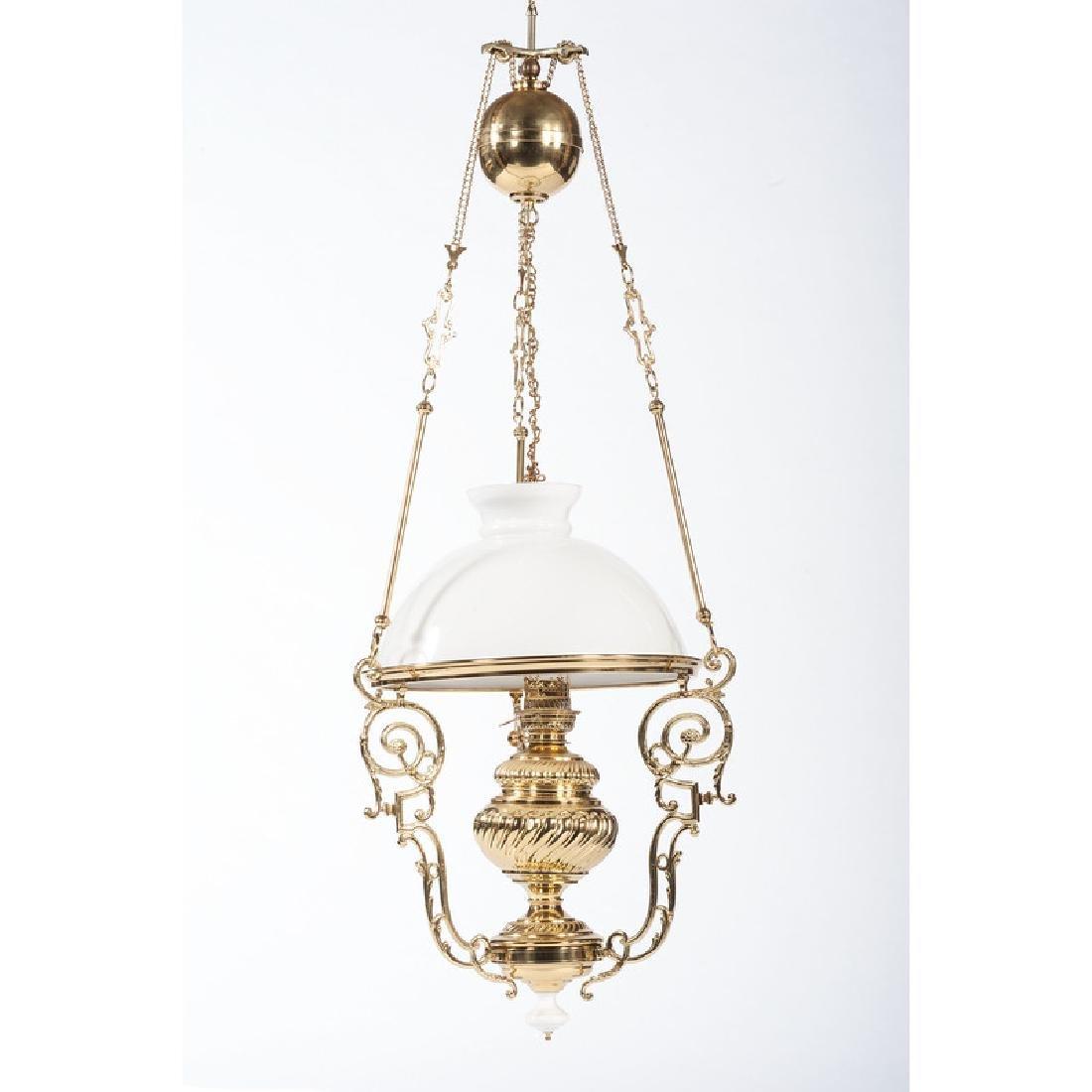 Brass Oil Chandelier