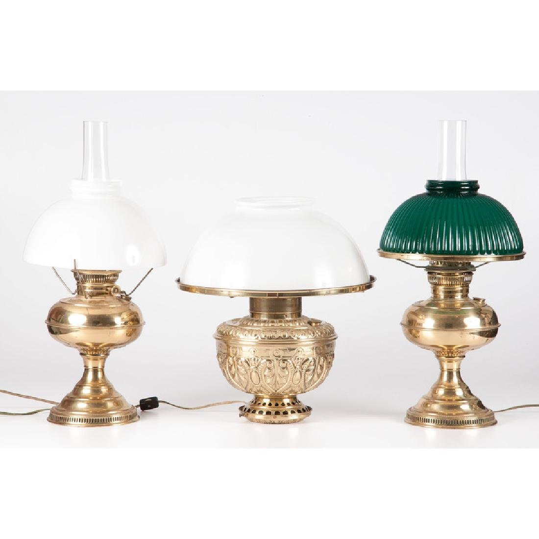 Brass Table Lamps, Including Rayo and Rochester