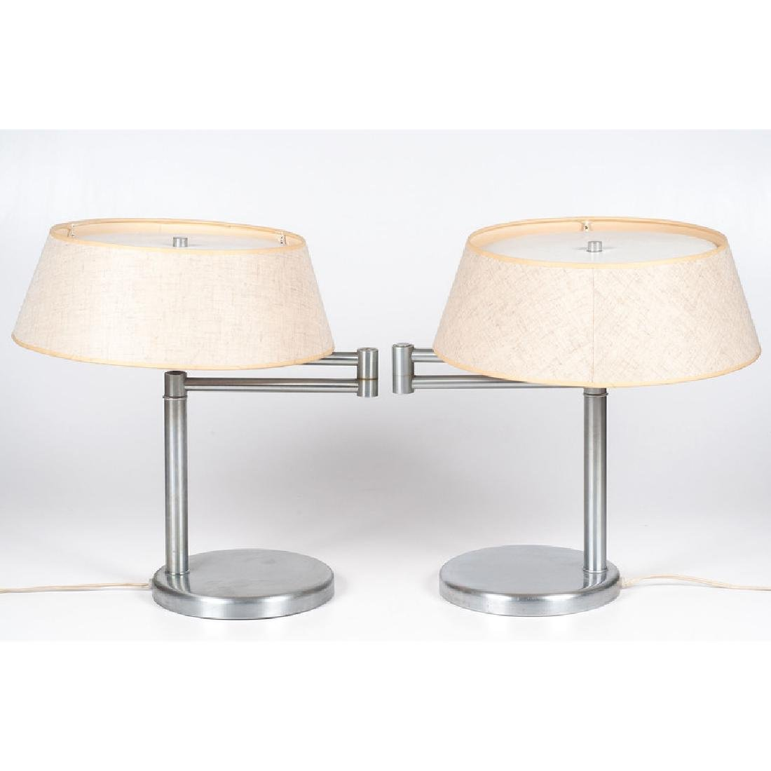 Walter von Nessen Swing-Arm Table Lamps