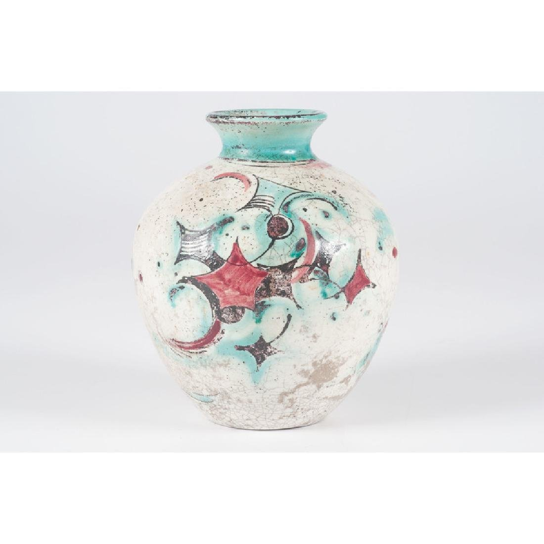 Earthenware Vase with Geometric Design