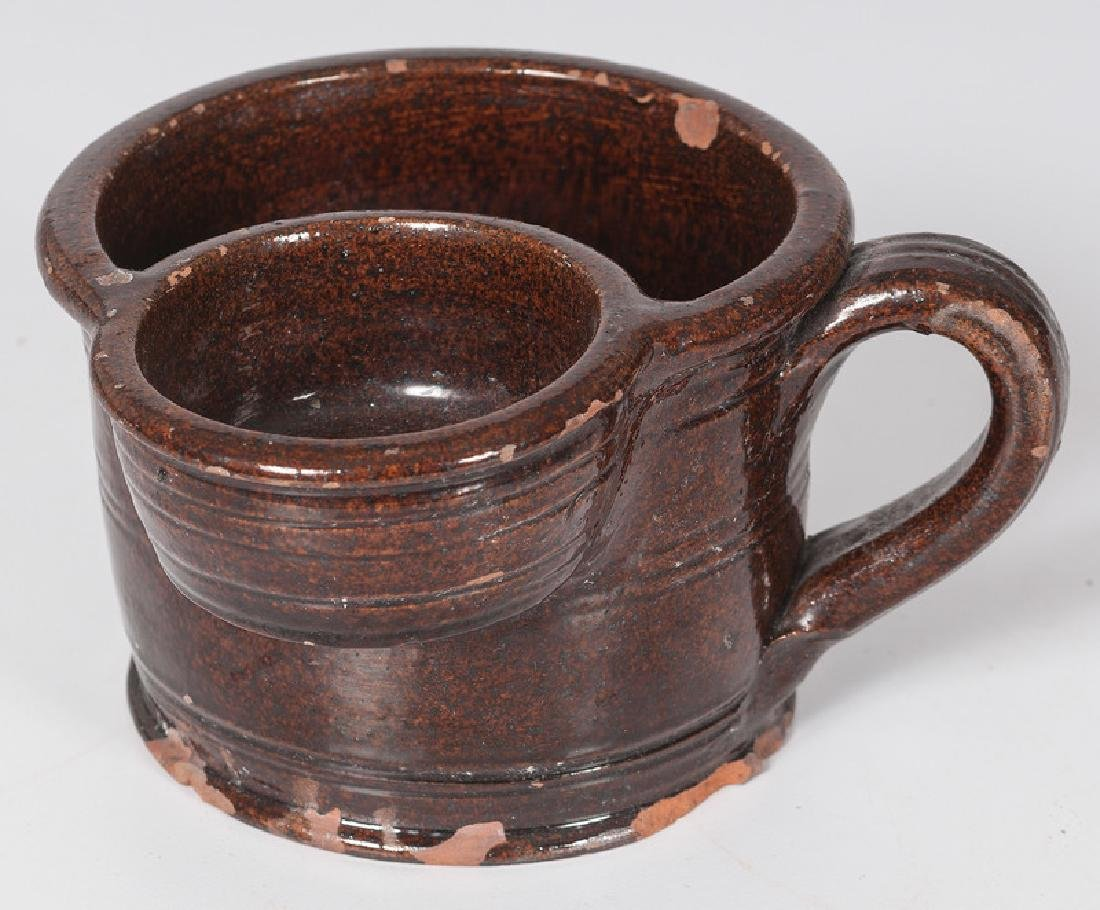 Redware Shaving Cup